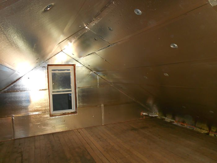 A Rochester Attic With SuperAttic Installed.