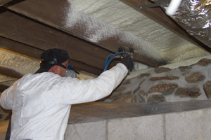 Spray foam insulation in Batavia