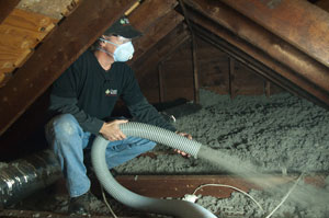 Cellulose Insulation in Rochester, NY home